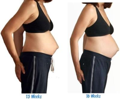 16 weeks pregnant. 2nd pregnancy. Back To Twin Belly Pictures - 13 To 16 ...