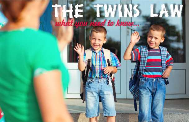 Twins Going to School