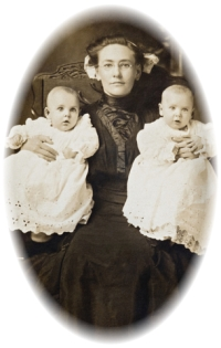 identical twins research old photo