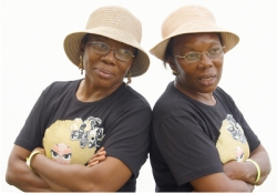 older african american twin ladies