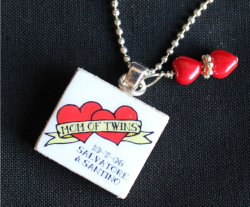 This Would Be A Very Special Gift For The New Mom Of Twins These One Kind Scrabble Tile Necklaces Are Made On Demand And Personalized With Names