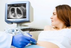twins on ultrasound machine