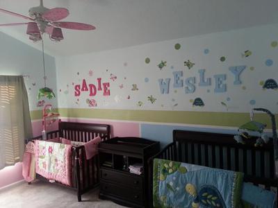 Boy Girl Twin Turtle Theme Nursery