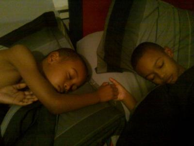 Brotherly love ...its a twin thing