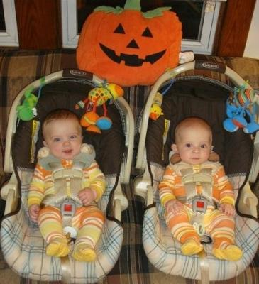 Lex & Dylan - Cute in our CandyCorn Pj's