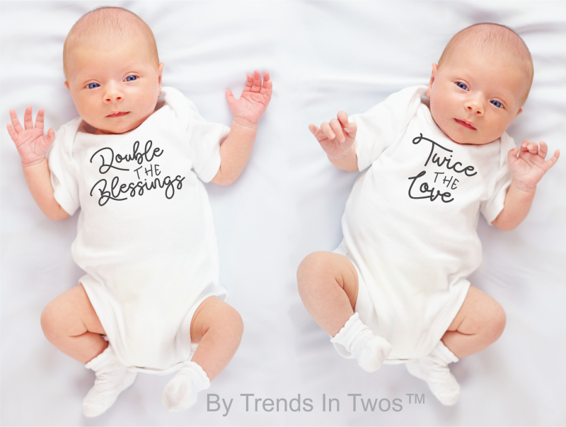 57f56d73f6c With a wide range of prices and the largest selection of coordinating  onesies and t-shirts for twins