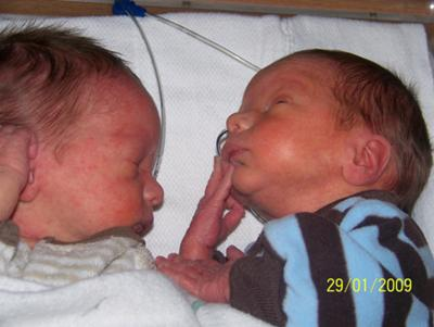 Paul & Vincent at 2 wks old in NICU