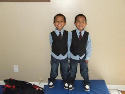 Daniel and Samuel before Church