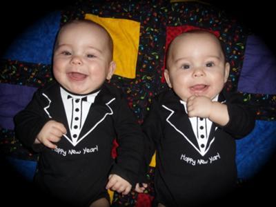 Happy New Year Identical Twins