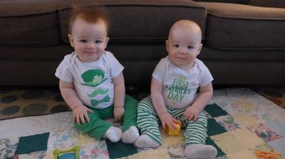 Happy St. Paddy's Day From These Little Leprechauns!