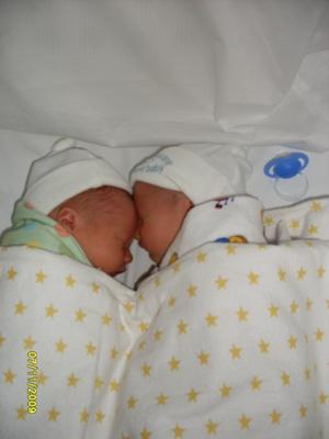 Tristan & Sebastian only 2 days old***