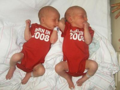 One day old baby boys