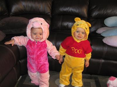 Piglet and her best friend Pooh