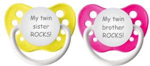 Trends In TwosTM Has Some Really Fun Expressions For Your Twins Pacifiers We Think This Is The Best Way To Solve Confusion Between Whos As
