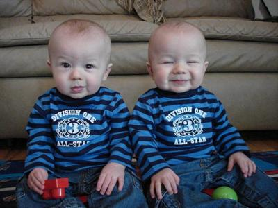 Codey left and Wesley Right 9 months