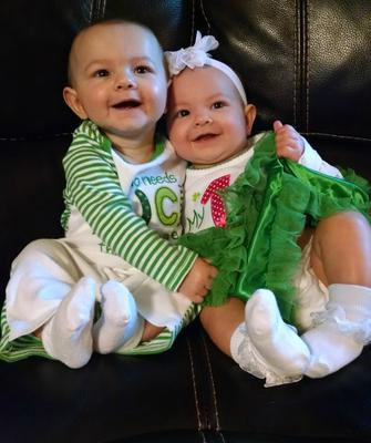 Landry and Leyton, our lucky charms