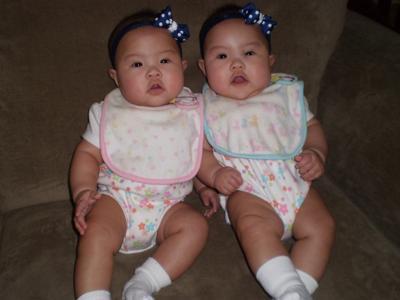 Jaina & Ellie  Five Months Old