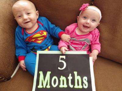 5 Month Old Super Babies!