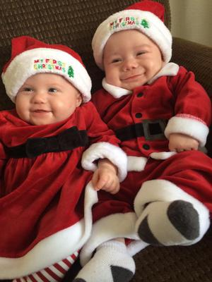 Mr. & Mrs. Mini Clause-Smiles all the way...