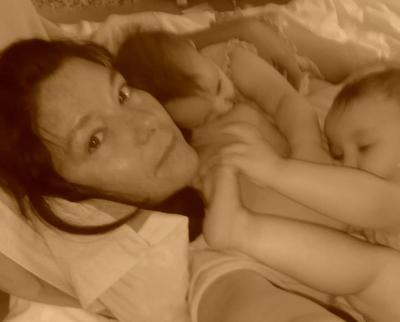 Girls breast feeding