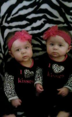 savannah and gabriella 8 months old !
