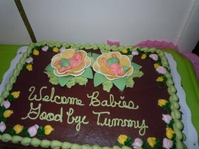 Twin Baby Shower Cake Images
