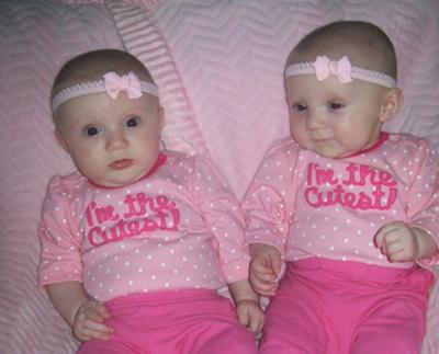 Taylor Marie & Jersey Lynn ~ 4 1/2 mo.old