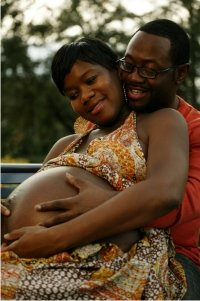 Pregnant Belly African American