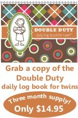 Double Duty Log Book for Twins