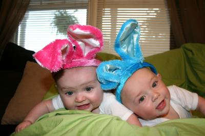 Kass & Kayden's first Easter at 6 months old!