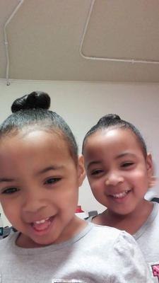 My 4 yr old twins lydiah and keziah
