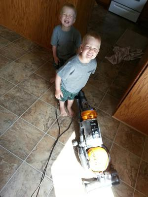 Another benefit of twins: Twice the clean!