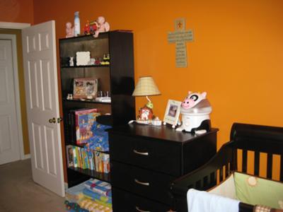 The bookshelf we painted