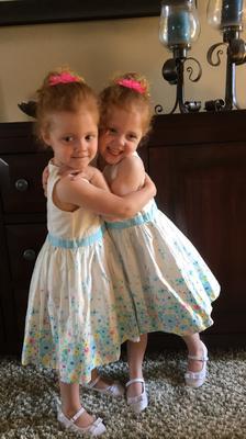 Twin hugs!