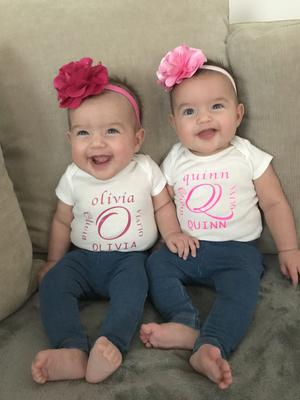 Identical Twins Olivia and Quinn