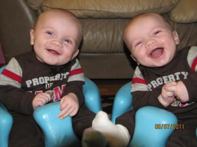 Ashton and Nathan - 5 months