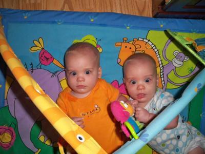 David & Thomas on the playmat