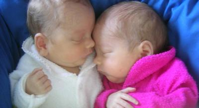 2 months old olivia and bella