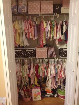 Twin girls closet