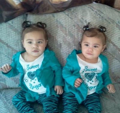 My twin girls in our home.