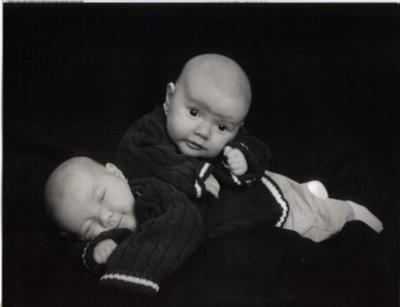 Kaiden and Connor at 9 weeks.